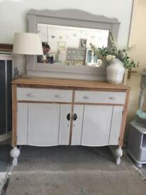 Beautiful sideboard and large mirror