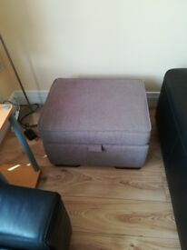 Large pouffe with storage in excellent condition