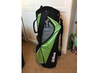 Wilson Staff, half set, cart compatible golf bag