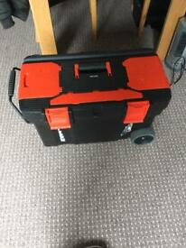 Black and decker large toolbox with tools