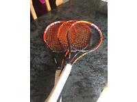 Head radical tennis rackets