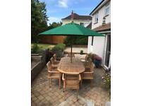 Bramblecrest Teak 8 Seater extending garden furniture set