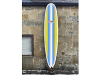CAN SHIP, Longboard Surfboard 8'6, SET, Epoxy thruster, fins, leash, bag