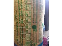 Loft insulation 170mm thick unused
