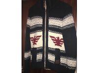 Mens large Navy Superdry Buffalo knit Cardigan £25