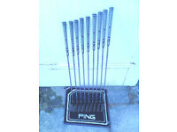 Set of Ping IST Beryllium Copper Irons (3 to Sand Wedge) 9 irons in total