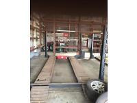 Bradbury 4 post lifting ramp 3 phase