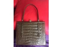 Elegant Vintage Italien Leather Brown hand Bag