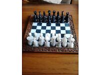 vintage marble chess set £35