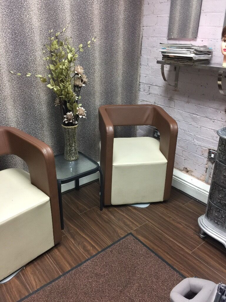 Salon reception chairs - Visitor Reception Chairs Sofa Settee X Hairdressing Salon Office Shop Excellent Condition