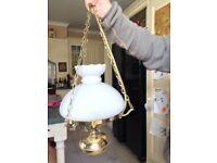 Brass Oil Lantern Ceiling Light