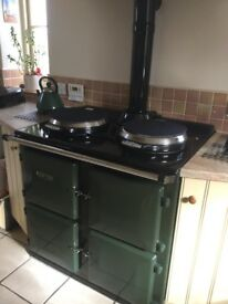 Redfyre 80 'Aga-style' Central Heating Cooker. 2-oven green in colour. Excellent condition.