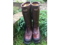 Mens Leather Hunter Wellies - Size 10