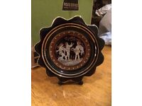 Hand made in Greece in 24k gold miniature plate