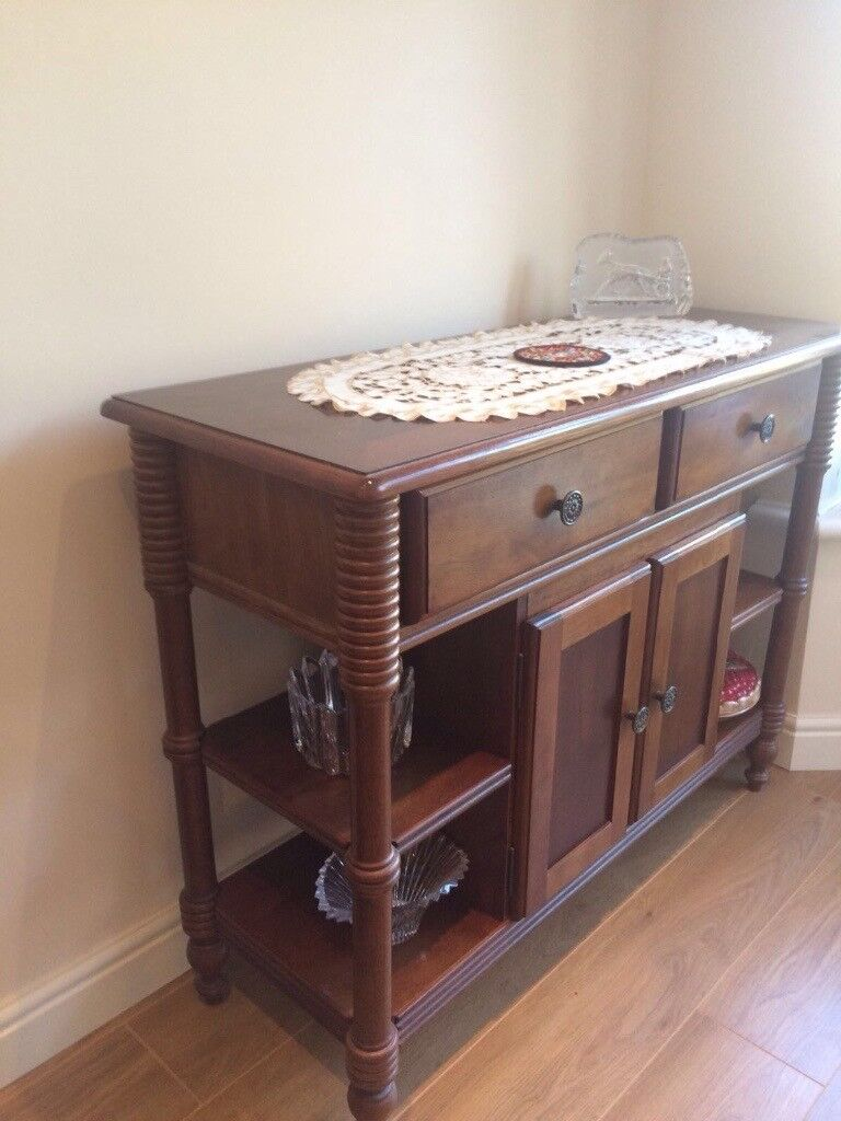 Dining Table And 4 Chairs Side Cabinet