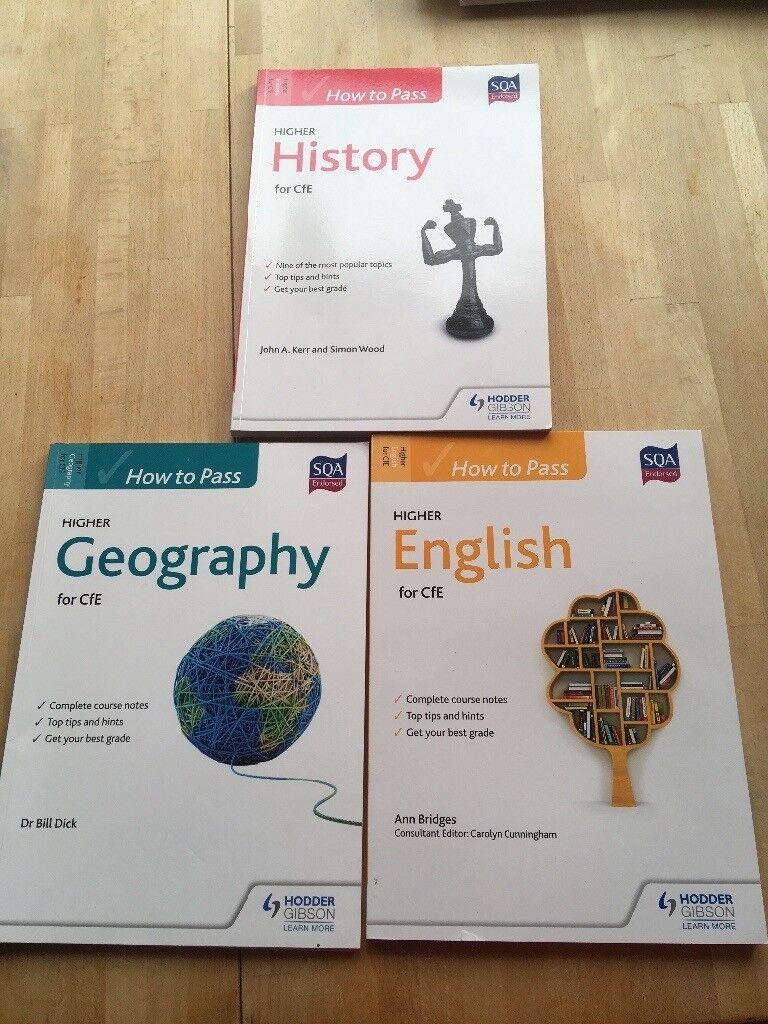 SQA Study Guides- English, Geography, History,