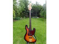 Fretless Squier Jazz Standard Bass