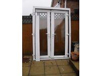 RAHAUL WHITE UPVC DOUBLE GLAZED FRENCH DOORS