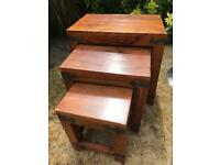 Solid wood chest of 3 tables