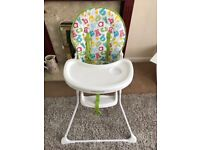 Mothercare ABC Highchair like new.