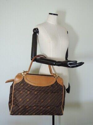 Vintage GUCCI Brown GG Softside Weekender Travel Bag 17 X 11 X 6