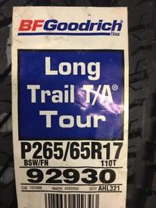 4 Brand New BF Goodrich Long Trail T/A Tour 265/65R17 all season tires. *** WallToWallTires.com ***