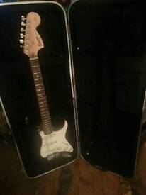 Squire Stratocaster. Black. Heavy duty Hard case included
