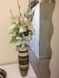 Decorative vase with artificial flowers