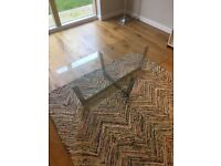 SHOW HOME FURNITURE Glass and Silver Coffee Table