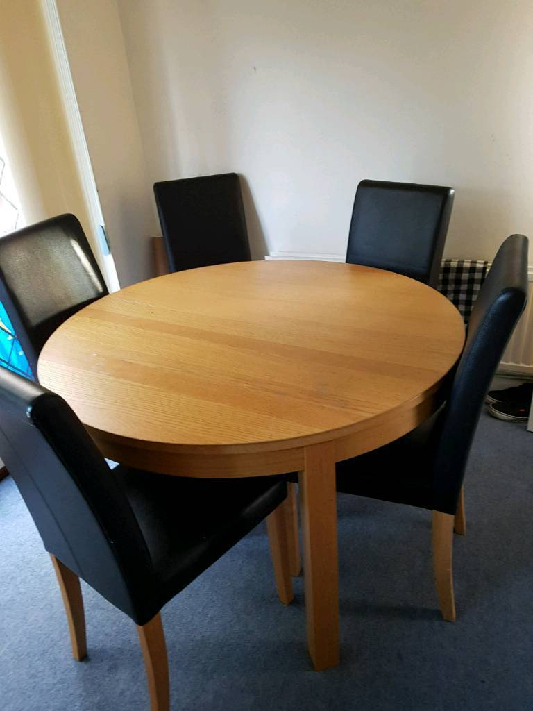 Round Extendable Dining Table And 5 Chairs In Sheffield South