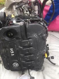 COMPLETE ENGINE 2.0 TDI VW GOLF 7 GTD CODE CUN