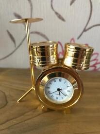 Drum kit novelty clock