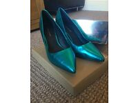 Kurt Geiger Turquoise Leather Heels