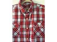 Men's NEXT 2XL Red White & Navy Checked Shirt Ideal For Summer Holiday