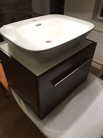 Twyfords Sink &Tap plus cabinet or stand