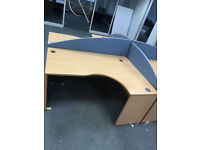 office corner angle desk with 1 pedestal filing cabinet left or right corner Available