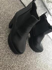 Black Chelsea boots. Size 6