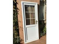 Bright white UPVC back door