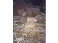 Approx 50 Pink Granite corner stones for sale