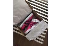 Adidas Neo ladies girls trainers brand new size 5 pink purple