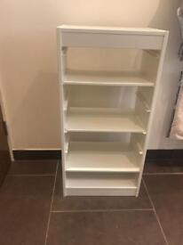 White ikea shelf unit