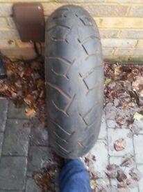 Pirelli Diablo 180/55/17/ZR rear motor bike tyre
