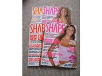 Women's diet fitness magazines: Shape, Essentials, Prima, Mind Body & Spirit Fitness