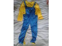 childs minion onesie age 6 - 7