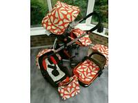 *Reduced price* Cosatto Giggle sunny travel system inc. matching car seat, pushchair and carry cot