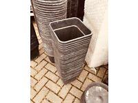 Cheshunt Hydroponics Store - used 11L square plastic plant pots