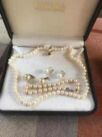 Vintage Takara cultured pearl set