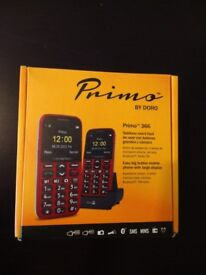 Mobile phone Doro Primo 366 red Brand new!!
