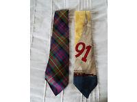 Two Silk Polo Ralph Lauren Mens Ties