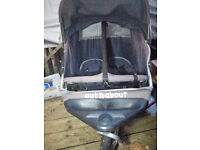 * * * Double Baby Twins Pram Buggy * * out and about nipper 360 double * Good condition * Good tyres